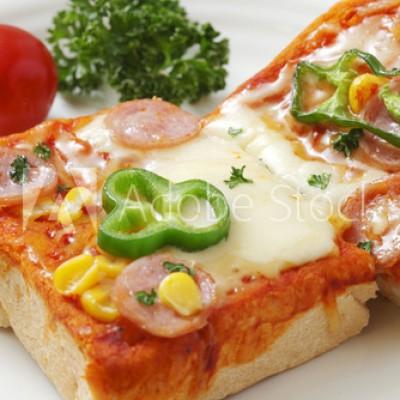 野菜たっぷりピザトースト